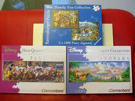3 Large Disney Jigsaws'