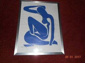 "FRAMED COPY OF ""BLUE NUDE"" BY MATISSE"