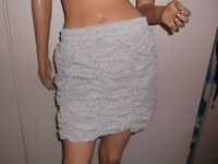 Pretty Disturbia Grey Ruffle Skirt Brand New M-L 12-14