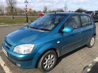 Hyundai Getz 1599cc Petrol Automatic 5 door hatchback 03 Plate 07/05/2003 Blue