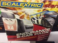 SCALEXTRIC Endurance 2- car pack new still in original packaging.