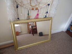 Gold framed mirror in good condition 87cm x 62cm in Saltdean