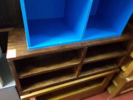 John Lewis solid oak- dark stain corner tv unit