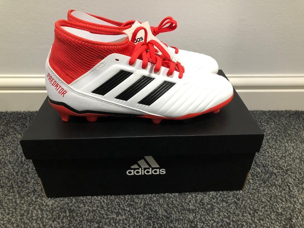 69b38ec129f5 adidas Predator 18.3 Firm Ground Junior Football Boots - White UK 5 ...