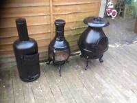 Cast iron chimenea 3 available from £25