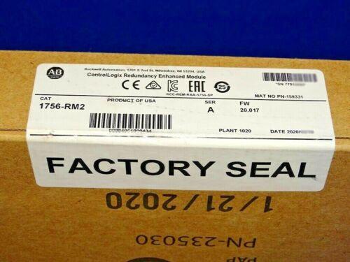 2020 FACTORY SEALED Allen Bradley 1756-RM2 /A Redundancy Module ControlLogix
