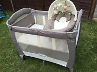 Grace travel Cot, with changer and nappier