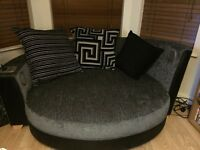 DFS large round cuddle snuggle chair sofa with built in Bluetooth speakers