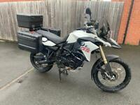BMW White F800GS with extras