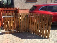 Wooden bi-fold gates for driveway