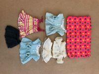 Build A Bear clothes/sleeping bag bundle - very good condition