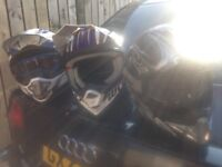 Helmets boots body armour an goggles