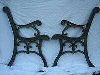 BENCH ENDS... cast iron fair offers...