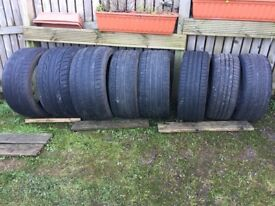FREE! TYRES (NOT ROAD LEGAL) FOR BACK GARDEN OR KIDS PLAY AREA