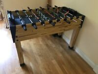 Table football game. Strong wood construction. perfect condition