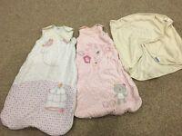 Grobag, baby m&s sleeping bag and grobag swaddle