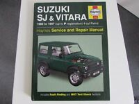 USED HAYNES WORKSHOP MANUAL SUZUKI SJ AND VITARA 1982-1997