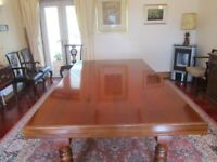 Luxury Snooker/Dining Table, 7'6 x 4'1 light mahogany, as new, 1 owner.