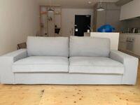 IKEA KIVIK three seat sofa light grey