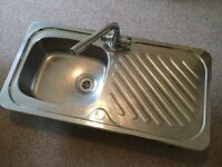 Stainless steel sink with tap, good clean condition