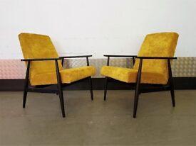 1 of 2 H. Lis Mid Century Armchair 1970's Vintage Restored