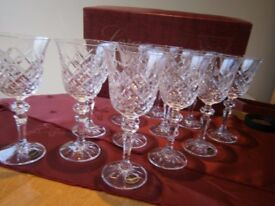 CRYSTAL WINE GLASSES (12 AVAILABLE)