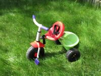 Children's Tricycle - Red & Green - Good condition