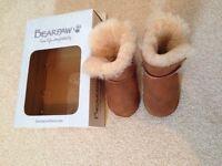 Bearpaw sheepskin lined booties NEW in box unisex 6-12 months