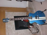 Italia Maranello Speedster 2 Series Electric Guitar with Combination Bridge - Blue