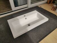 Hudson Reed Furniture Ceramics 600mm Full Depth Basin PMB313 new boxed