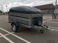 Brand new Brenderup 1205s car box trailer with double side , ABS lid , bracket and spare wheel