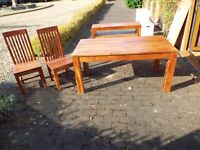 Next Wooden Dining Table 6 Chairs And Matching Side Board