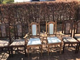 6 dining chairs