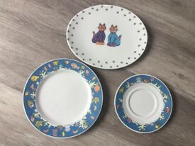 Sandra Rich Porcelain Collection Children's plates