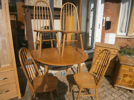 ERCOL / G-PLAN table & chairs 1960s vintage retro kitsch table & chairs light finish in yeovil