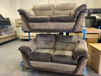 HARVEYS FABRIC CORD SOFA SET + SOFA BED IN NICE CONDITION 2+2 seater