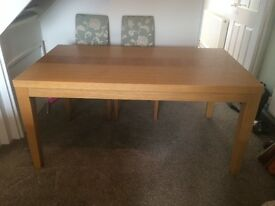Wooden rectangular dining table