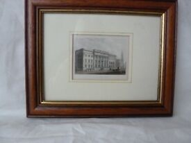 6 Framed Etchings of old buildings in London