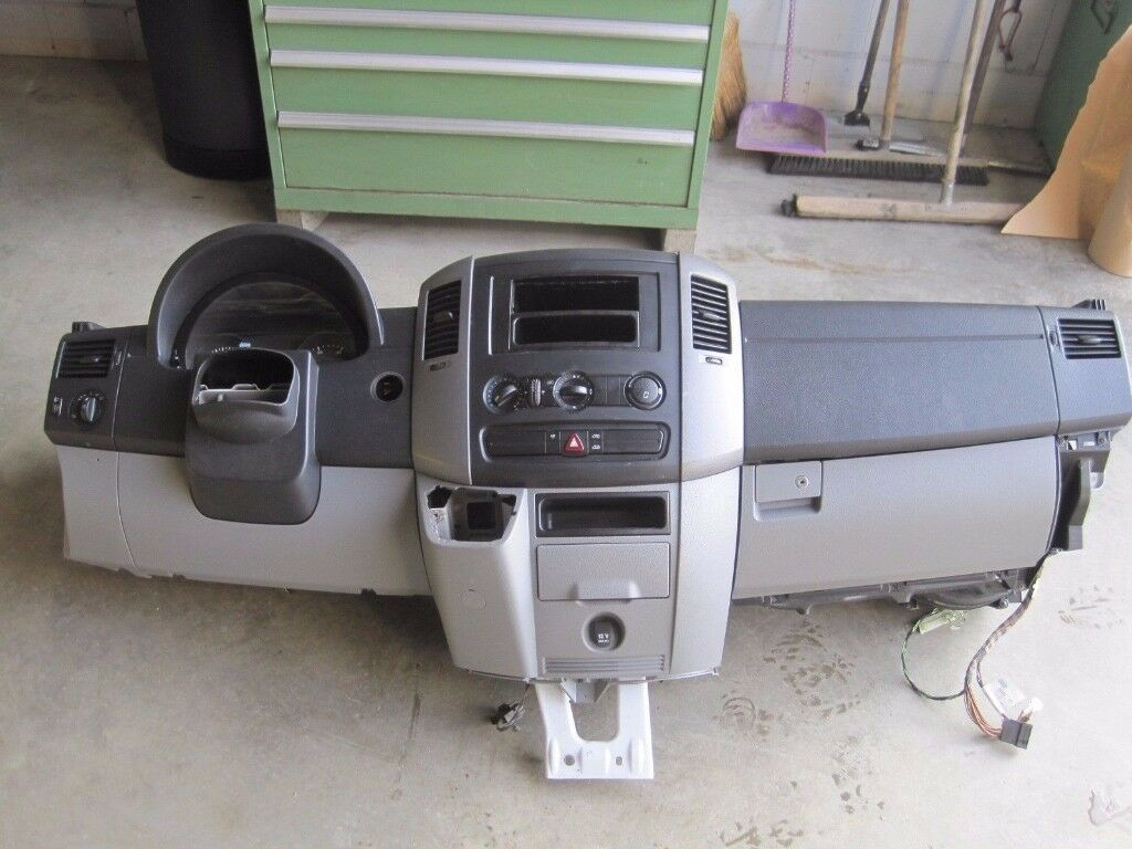 OEM Left hand drive Europe dashboard No AC switch Mercedes Sprinter W906 2006 - 2016 LHD conversion
