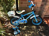 Police bike with stabilisers