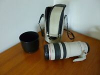 Canon EF 100-400mm f4.5-5.6 USM Lens with carrying bag and lens hood