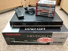Toshiba hd DVD player plus 7 films