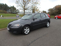 MAZDA 3 TS 1.6 HATCHBACK GREY NEW SHAPE 2007 ONLY 86K MILES BARGAIN ONLY £1150 *LOOK* PX/DELIVERY