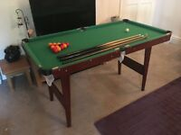 Small pool/ snooker table collection only