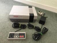 Nintendo NES console. Original 1980s