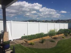 PVC vinyl fence panels and temporary construction fence.