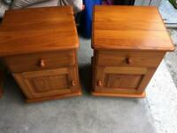 Solid Pine Bedside Tables matching pair