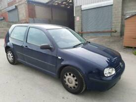 2002 VOLKSWAGEN GOLF 1.4 MK4 3 DOOR HATCHBACK BLUE 12 MONTHS M.O.T