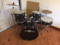 Full size drum kit. Hardly used and good condition. Seller collection - not able to deliver.