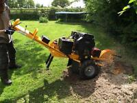 Tree services, landscaping, fencing and stump grinding.